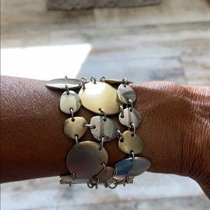 Lia Sophia gold & silver bracelet